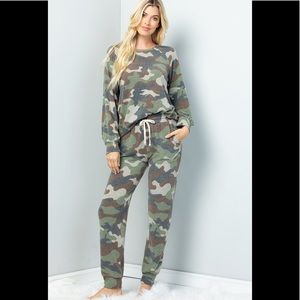Warm and Cozy Soft Brushed Camo Jogger Sets